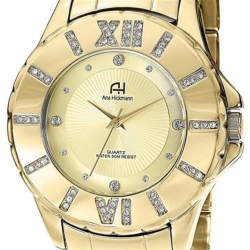 ddbb1ecedca73 Relógio Ana Hickmann Ah28080x Dourado - Loja Oficial Clocke - R  389 ...