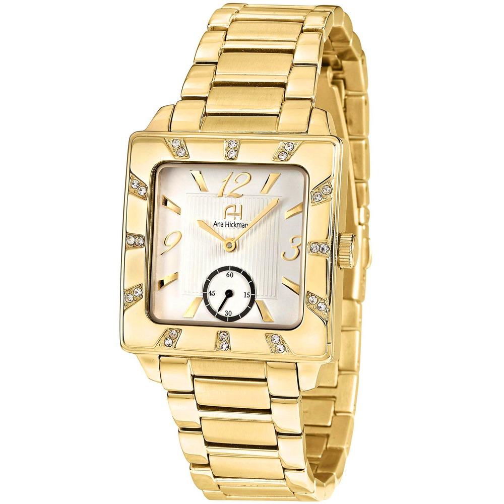 a420df16503 Relógio Ana Hickmann - Analógico - Quadrado - Ah28517h - R  600
