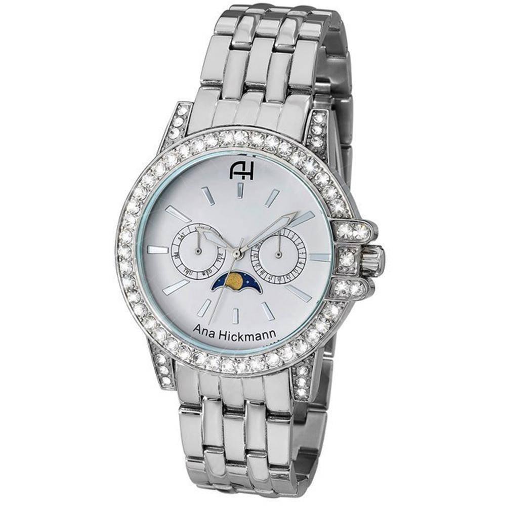 ba5d58e4ed1 Relógio Ana Hickmann Feminino Ah30120q Prata - Loja Oficial - R  469 ...