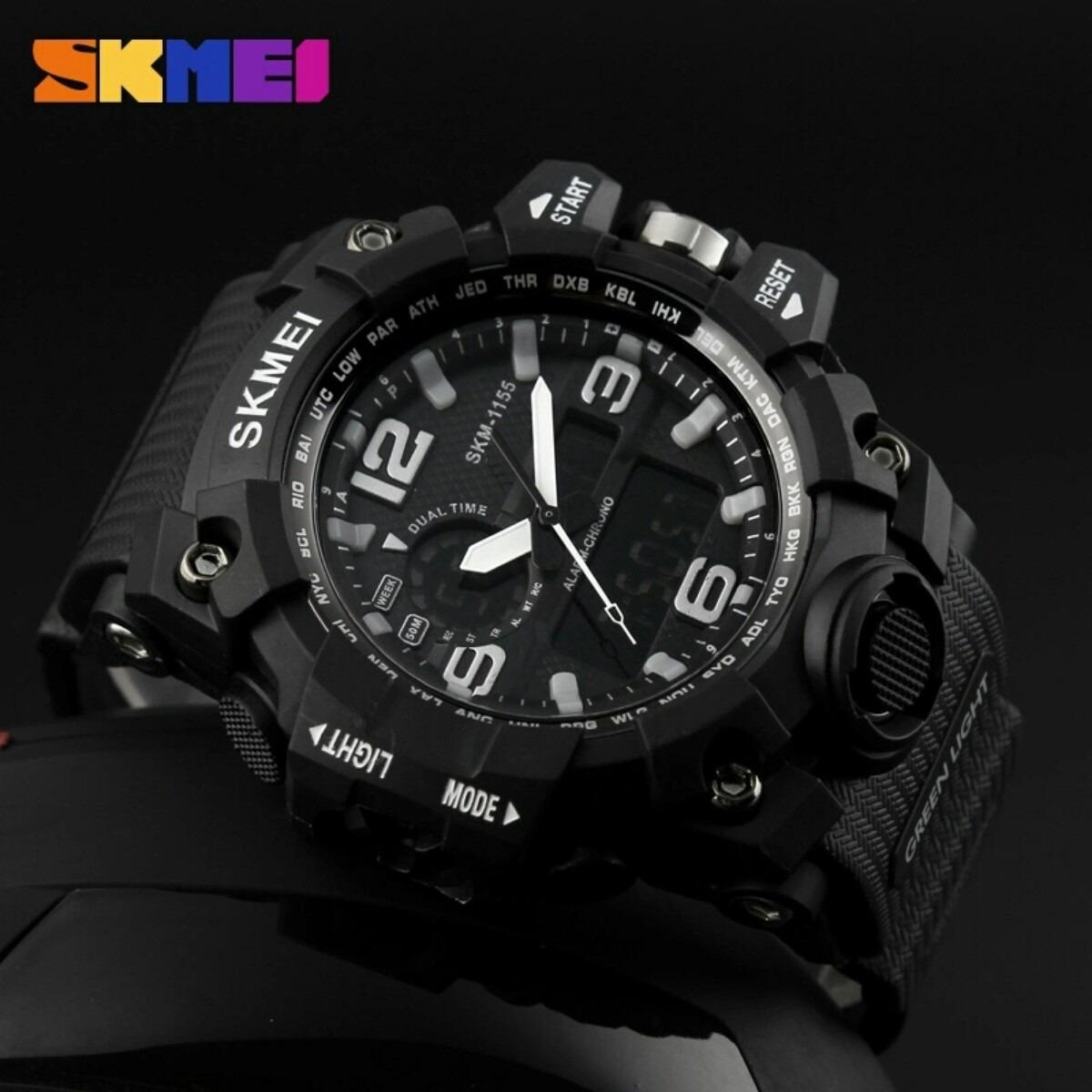 d6b76c67b07 Relógio Ana dig Prova D água S-shock Skmei 1155 Preto - R  75