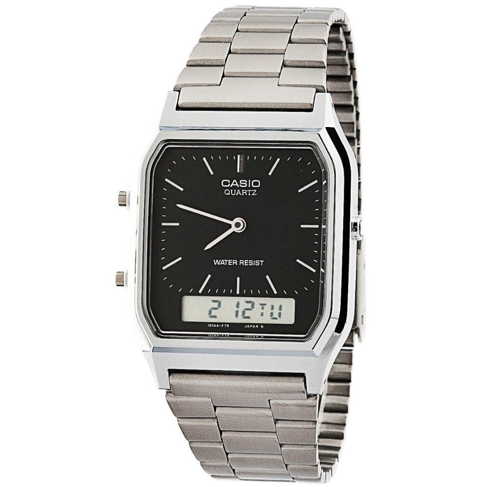 7ddbb379d5b relógio anadigi casio aq-230a prata fundo preto original. Carregando zoom.