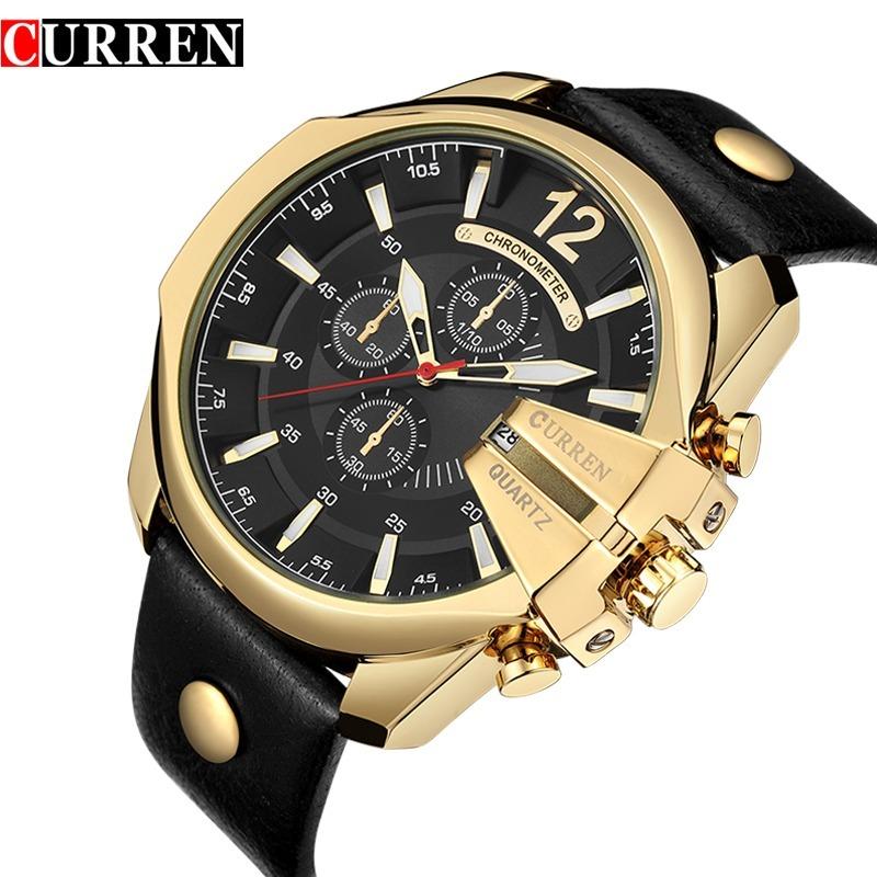 00b62a96c74 relógio analogic esportivo social promoção barato dourado. Carregando zoom.