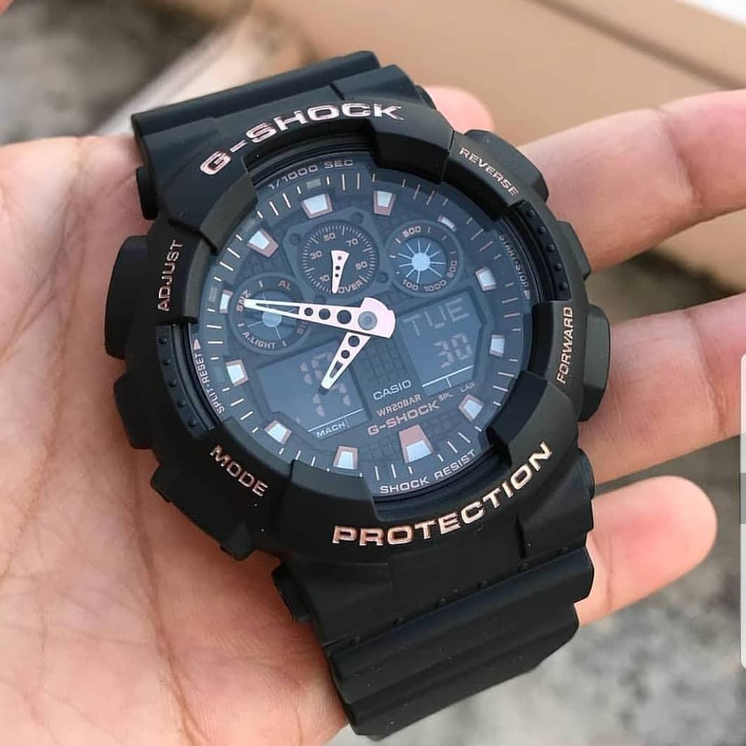 b360de08ac5 relógio analógico digital g-shock ga-100gbx-1a4dr. Carregando zoom.