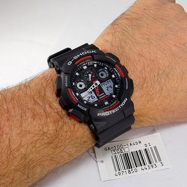 19dd84ec7f0 Relógio Analógico E Digital Casio G-shock Ga1001a4dr 20atm - R  877 ...