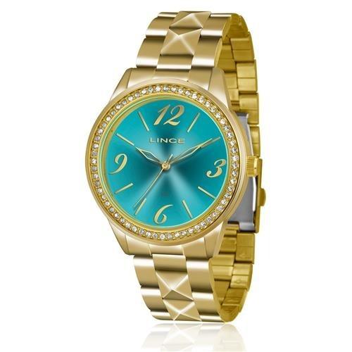 relógio analógico feminino lince dourado lrg4343l d2kx-736