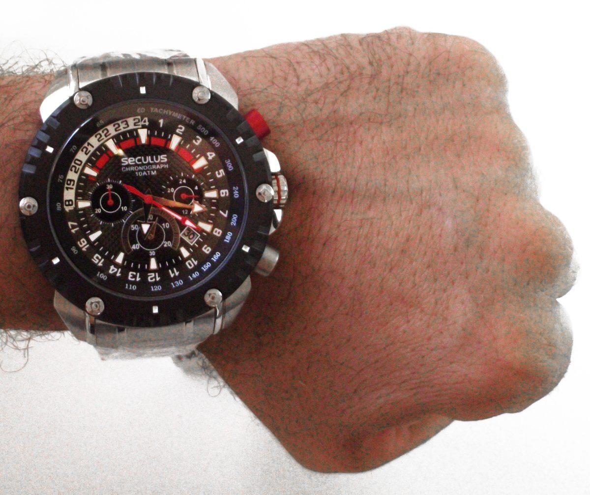 e010977a28a relógio analógico grande seculus masculino esportivo. Carregando zoom.