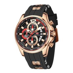 Relógio Analogico Luxo Estilo Qualidade 2021 Minifocus