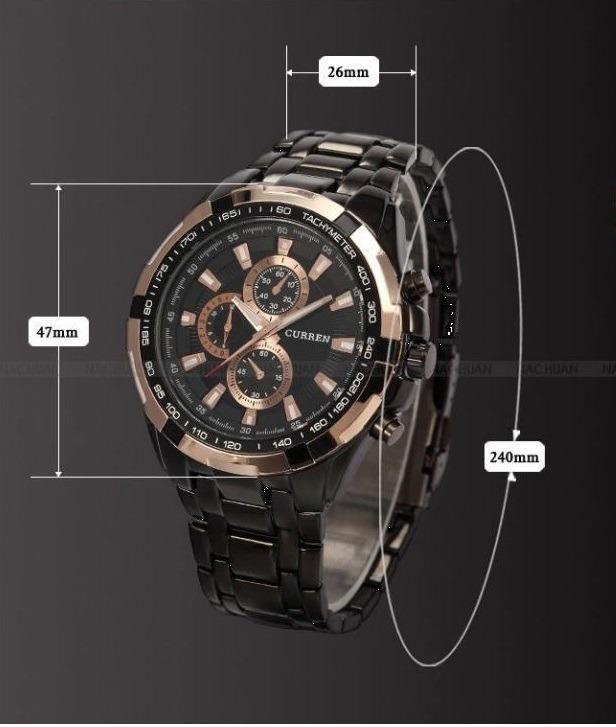 b160eac9549 Relógio Analógico Luxo Masculino Curren Barato - R  120