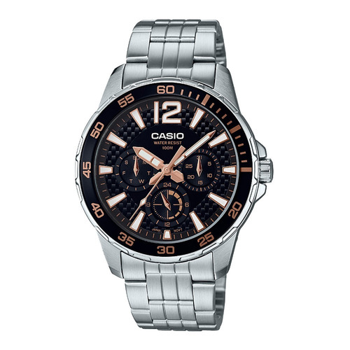 relógio analógico masculino casio mtd-330d-1a3vdf