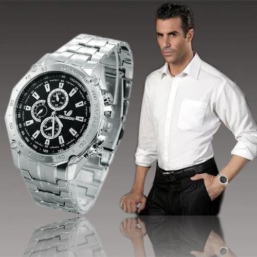 relógio analógico masculino orlando