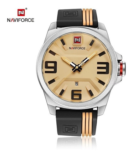 relógio analógico naviforce masculino original