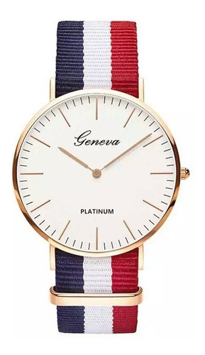 relógio analogico unissex geneva platinum