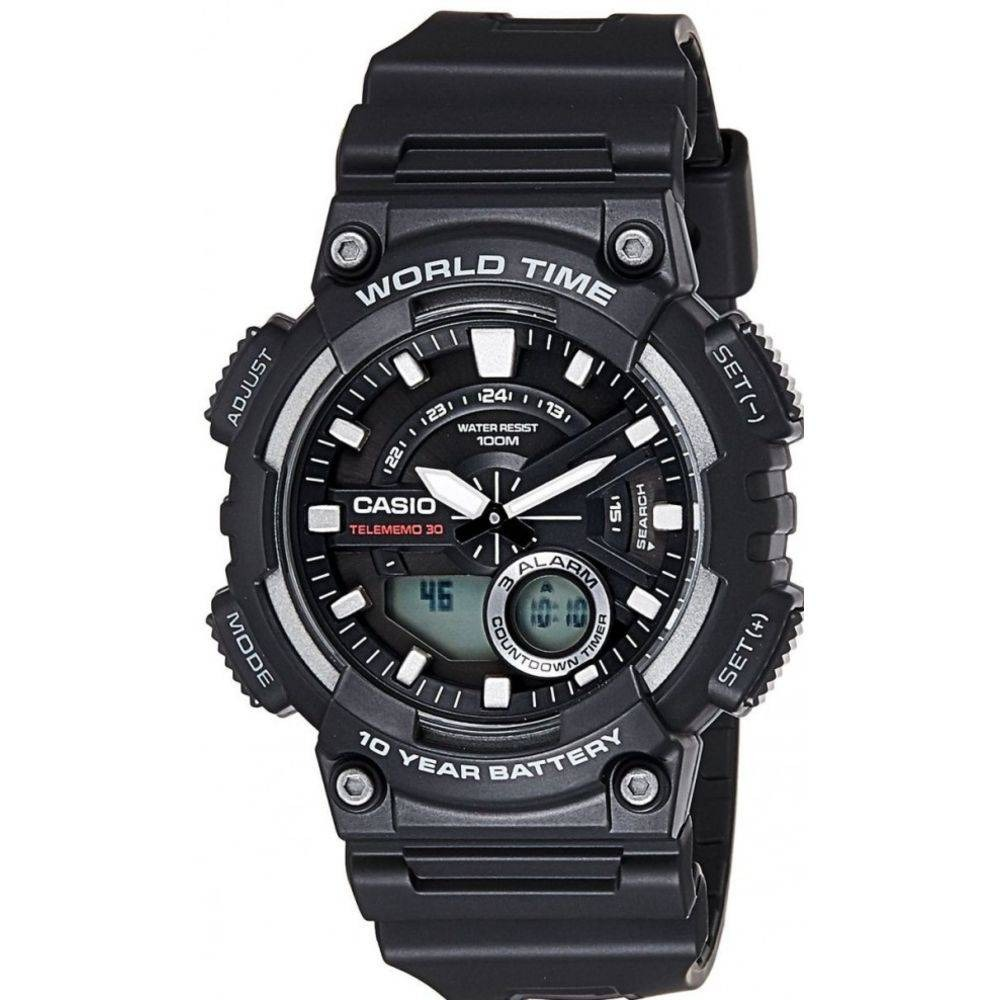 0cccb993db7 relógio analógico digital casio aeq-110w-1avdf. Carregando zoom.