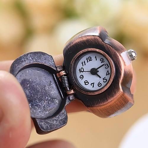 relógio anel caveira/