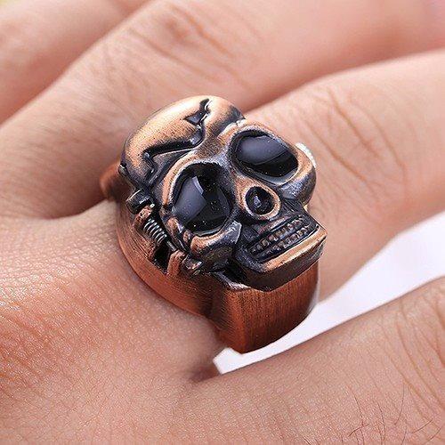 relógio anel caveira/ crânio/ motoqueiro/ rock/ punck