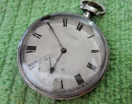 relógio antigo ausônia anos 30,em prata trabalhada,relíquia