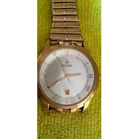Relógio Antigo Bulova Suíço, Plaque Ouro 18 Lindo! Impecável
