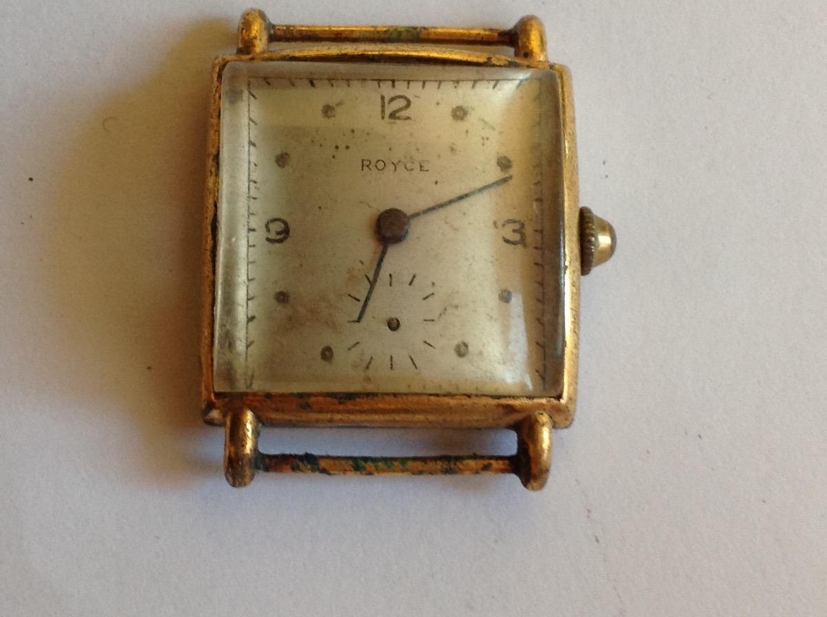 1881f543141 relógio antigo de coleção marca royce plaque de ouro. Carregando zoom.