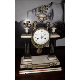 Relógio Antigo De Marmore De Carrara Raro