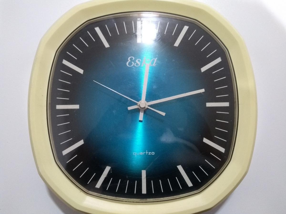 bdee4d9e7fd Relógio Antigo De Parede Eska Funcionando - R  100