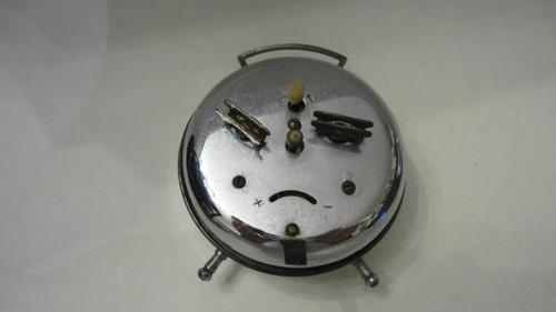 relógio antigo despertador a corda - decoração e coleção