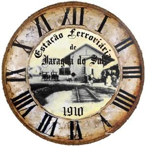 relógio antigo estação ferroviária personalisado - artesanal