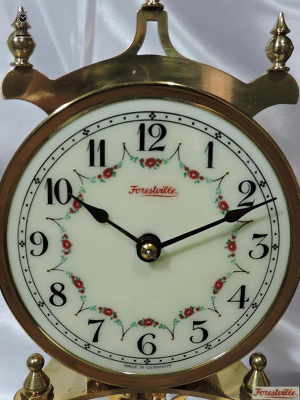 17a94bc7505 Relógio Antigo De Mesa 400 Dias Forest Ville Porcelana D.50 - R ...