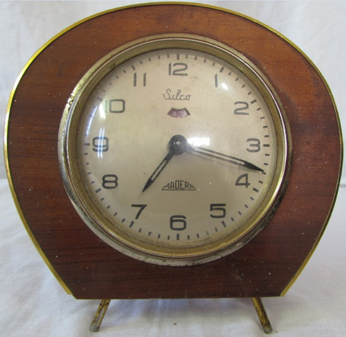 relógio antigo silco madera - raro - década de 50/60 - a3