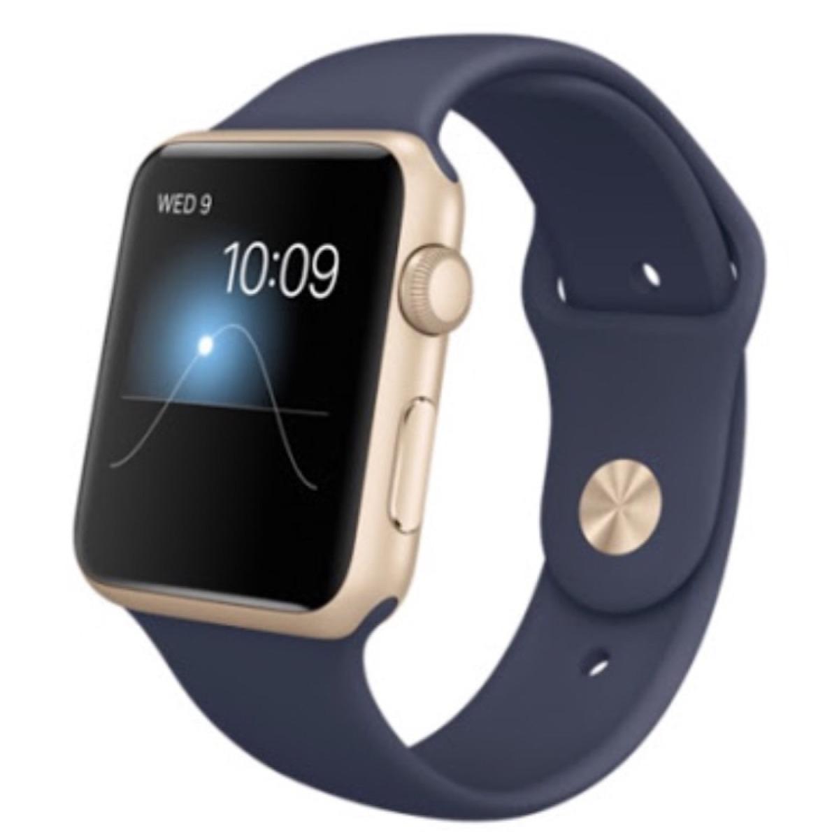 545baa095fb relógio apple iwatch azul com dourado 42mm - lacrado. Carregando zoom.