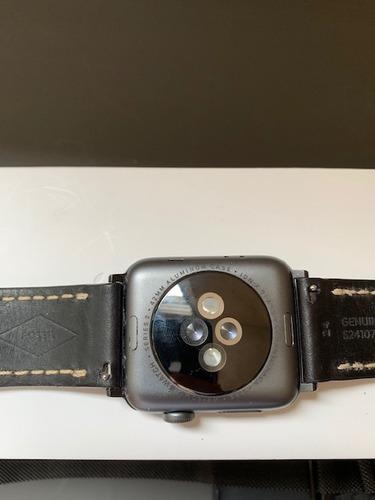 relógio apple watch series 2 42mm al black + 3 pulseiras