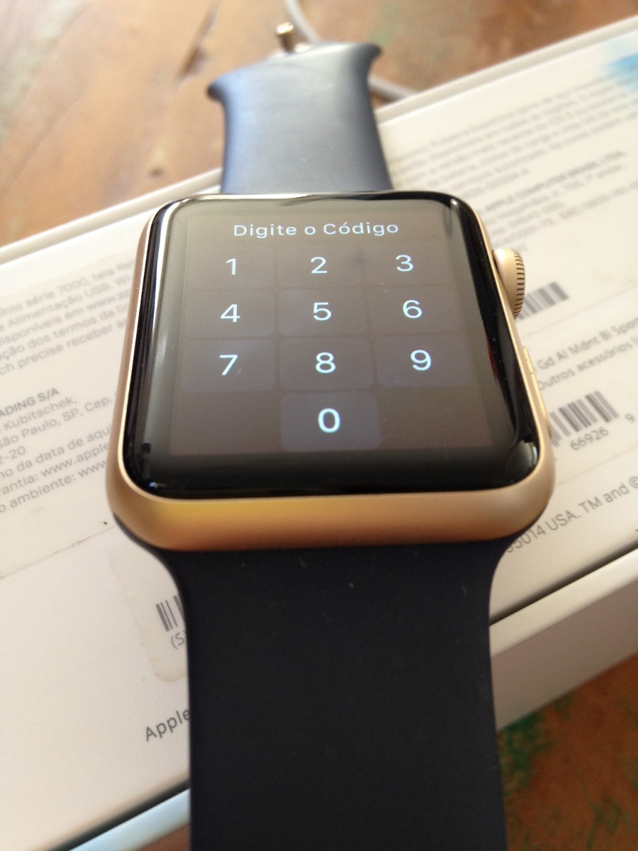 261f85f32cb relogio apple watch series 3 mq152ll a 42mm dourado gold. Carregando zoom.