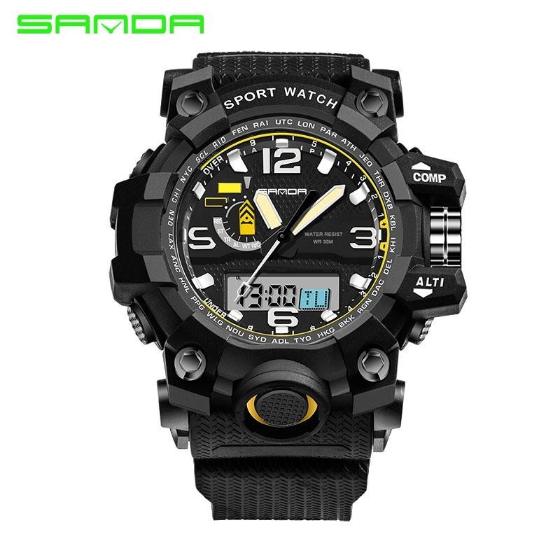 c167a7be1ab relógio aprova d água digital esportivo casual preto grande. Carregando zoom .