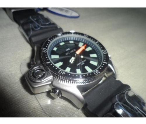 relogio aqualand jp2000 original atlantis serie prata borrac