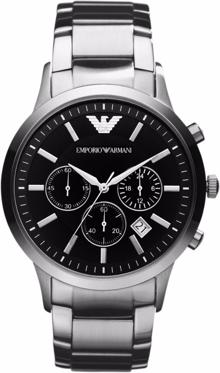 9e5f3e047 Relógio Ar Emporio Armani Ar2434 Prata Preto C/ Caixa - R$ 362,64 em ...