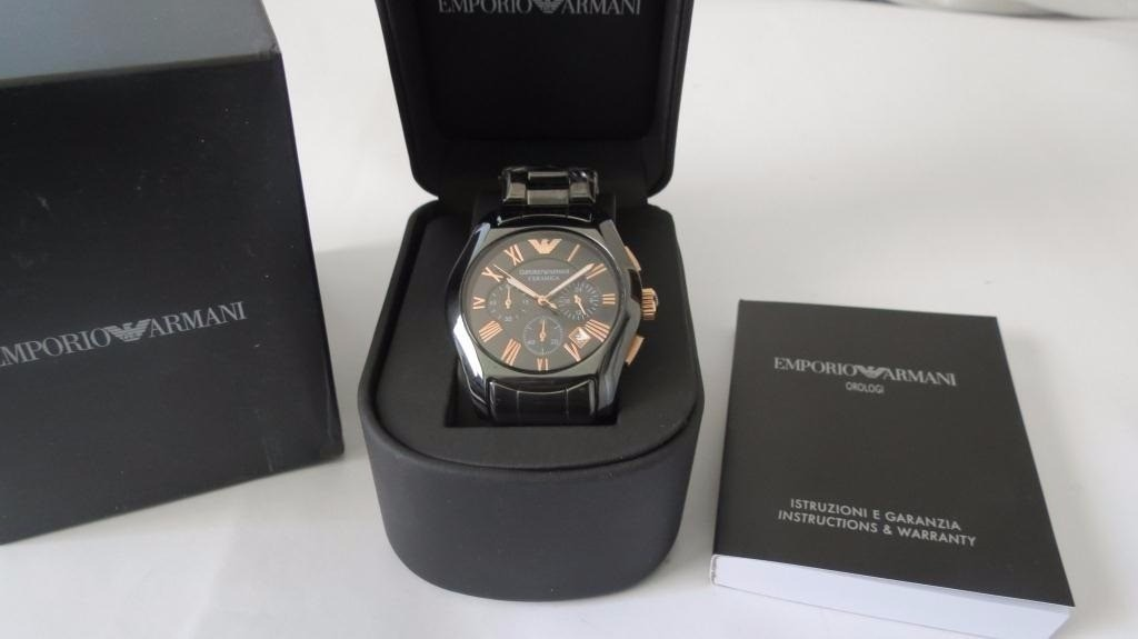 7a11ec7880e relógio armani cerâmica ar 1413 - original! - na caixa! Carregando zoom.