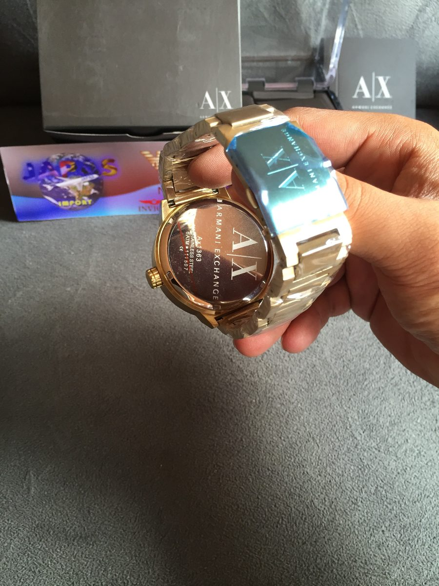 e49a1693d392b relogio armani exchange ax1363 gold original 12x s  juros. Carregando  zoom... relogio armani exchange. Carregando zoom.