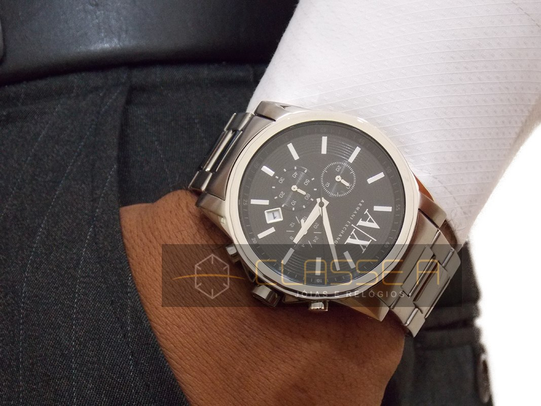 ce7952203c6 Relógio Armani Exchange Uax2084 z - Nf - Garantia De 2 Anos - R  677 ...