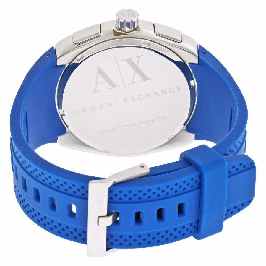 2d632742df6 Relógio Armani Exchange Ax1802 Azul Silicone Original - R  890