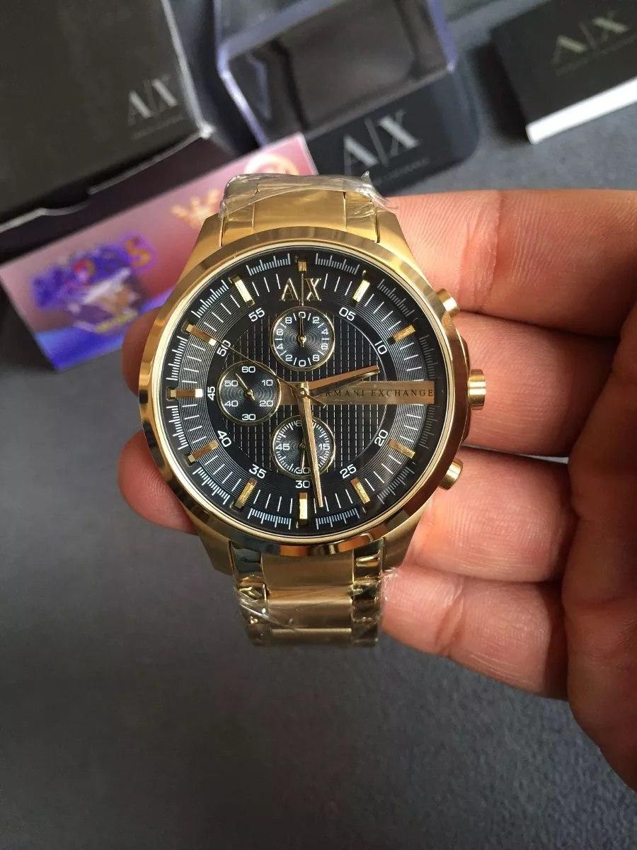 da27204ae6791 Relogio Armani Exchange Ax2137 Gold Super Oferta - R  469