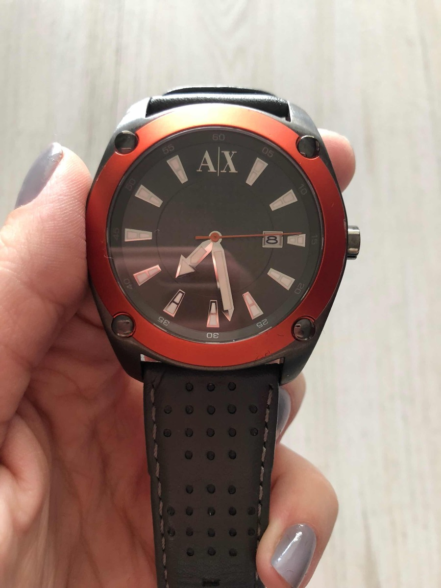 40d9206006c relógio armani exchange original pulseira couro. Carregando zoom... relógio  armani exchange. Carregando zoom.