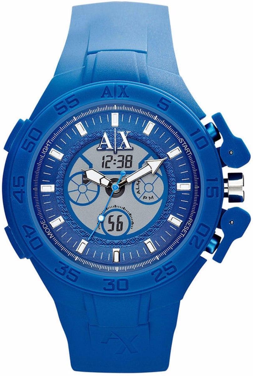 0828ba872b5 Relógio Armani Exchange Ax1282 Azul Garantia 02 Anos - R  495