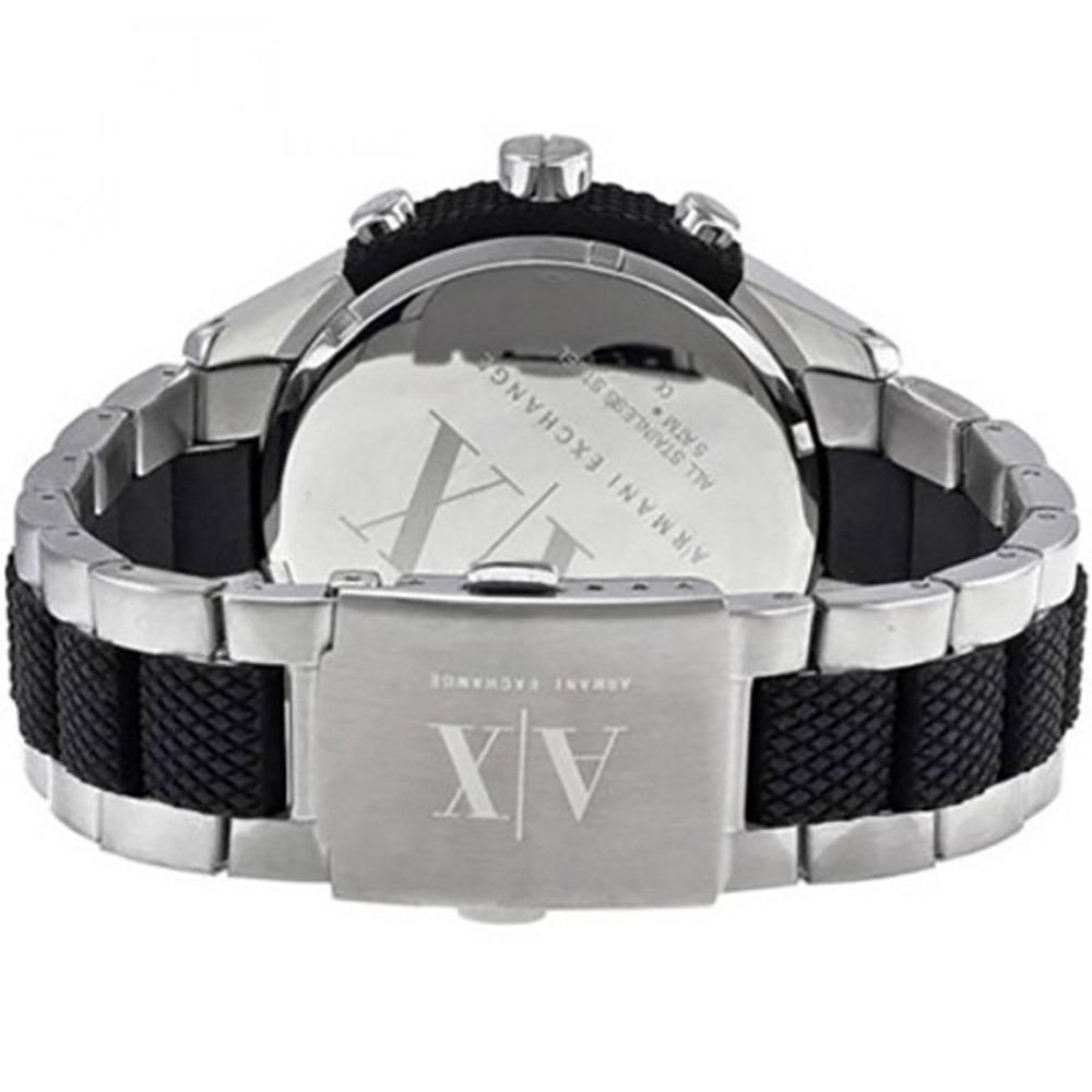 2cd5954bd7d Relógio Armani Exchange Pulseira De Aço E Borracha Uax1214 z - R ...