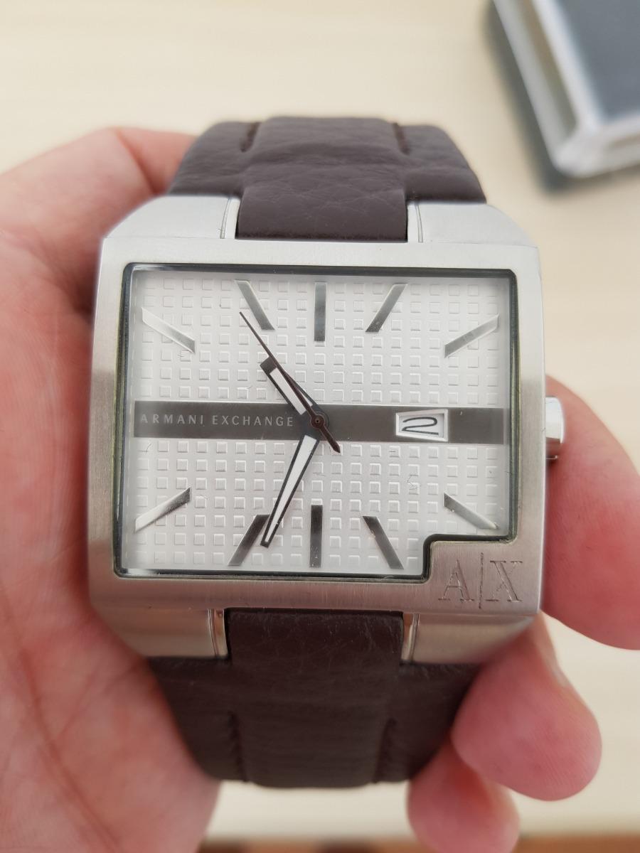 b058736e919 Relógio Armani Exchange - Original Couro Marrom - R  400