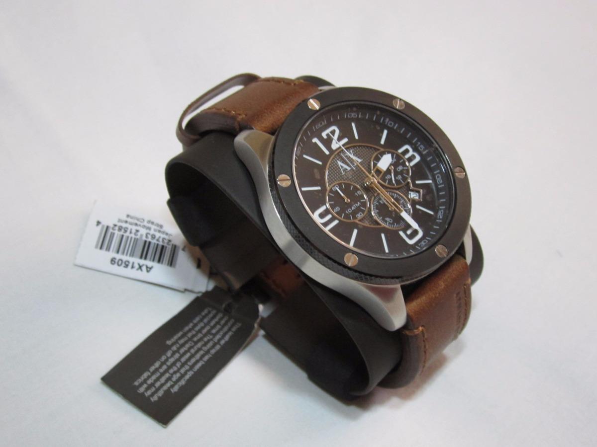97b59ad7d5e Relógio Armani Exchange Ax-1509 - Pulseira Em Couro Marrom - R  890 ...