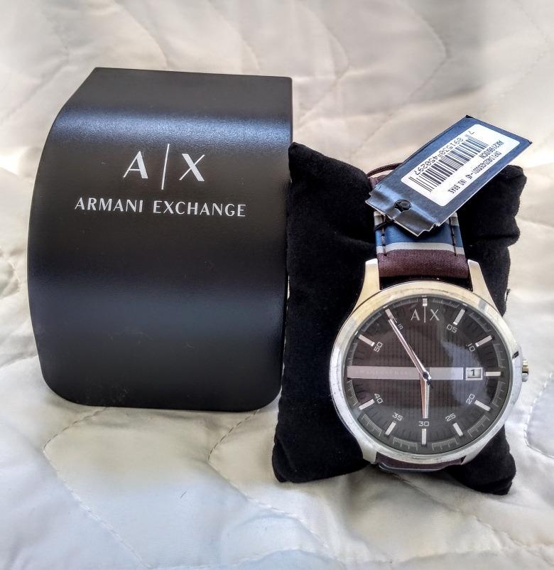 794364360d1 Relógio Armani Exchange Aço E Couro - Novo