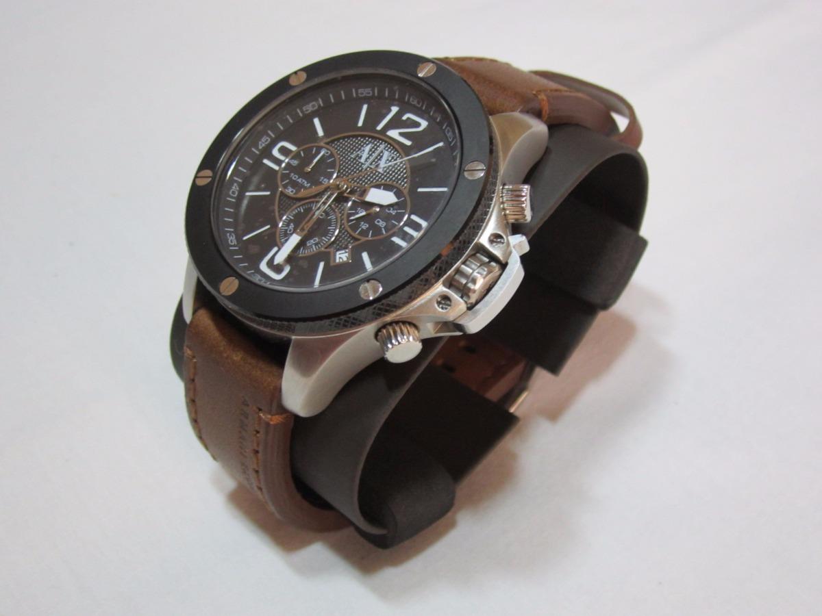 b2cfb1fdd9a relógio armani exchange ax-1509 - pulseira em couro marrom. Carregando zoom.