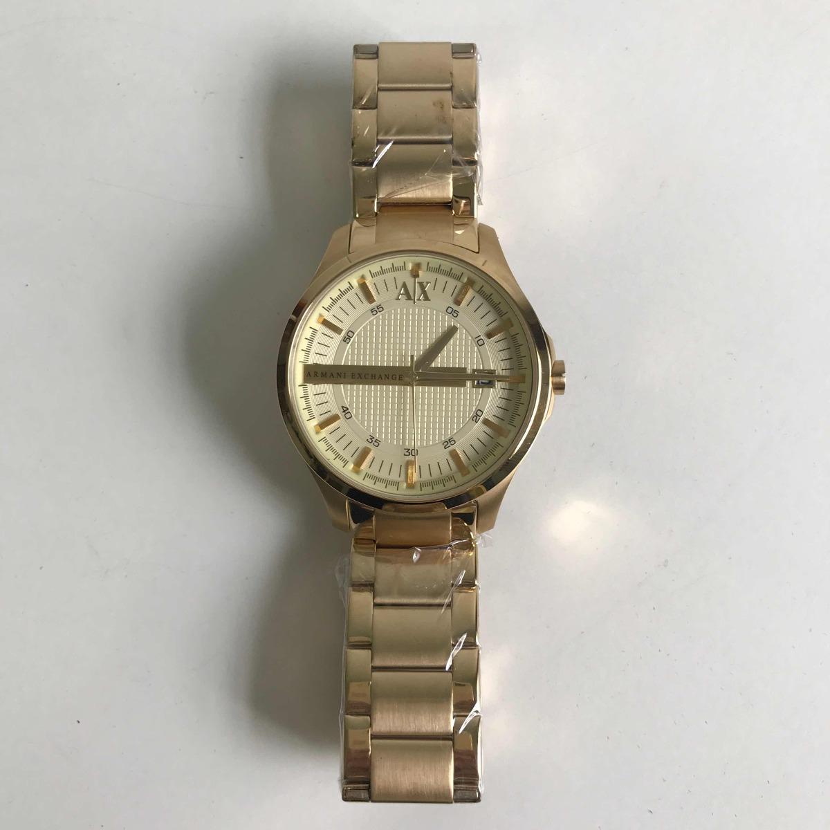 8c54fb45fee relógio armani exchange ax-2131 dourado. Carregando zoom.