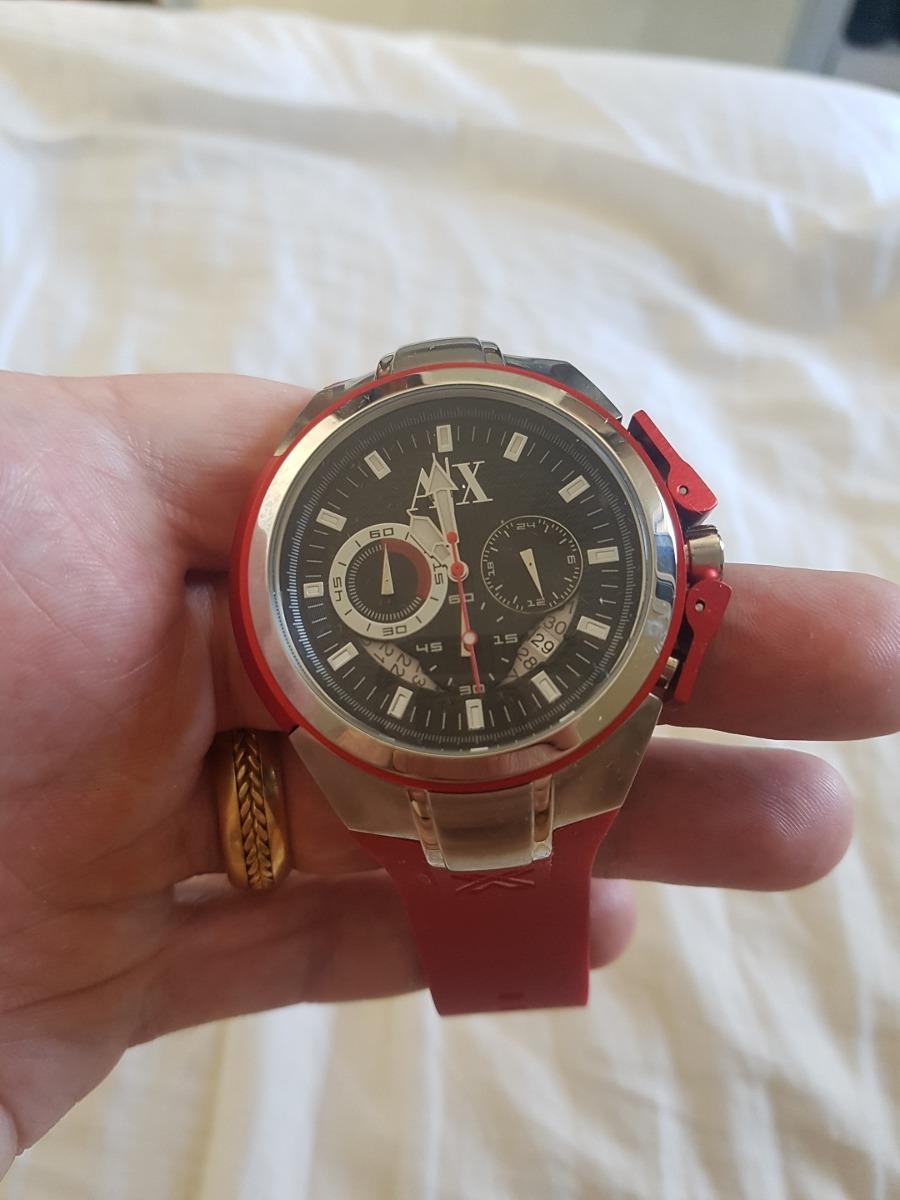 7ae31490ab0 relógio armani exchange ax vermelho original. Carregando zoom.