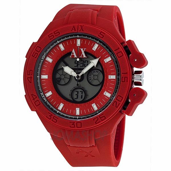3b4532ed56c Relógio Armani Exchange Ax1281 Vermelho Garantia 02 Anos - R  495