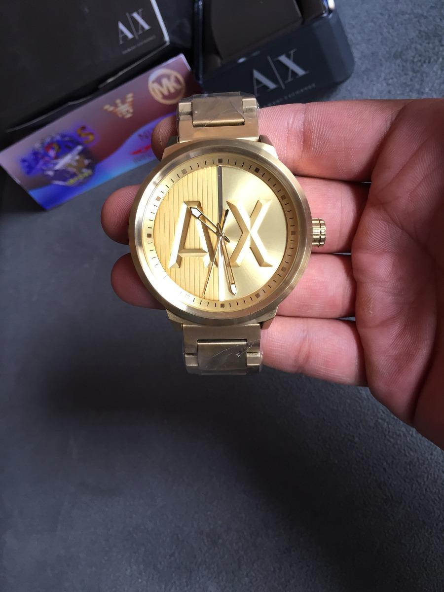 d6a7c9b810430 relogio armani exchange ax1363 gold original 12x s  juros. Carregando zoom.